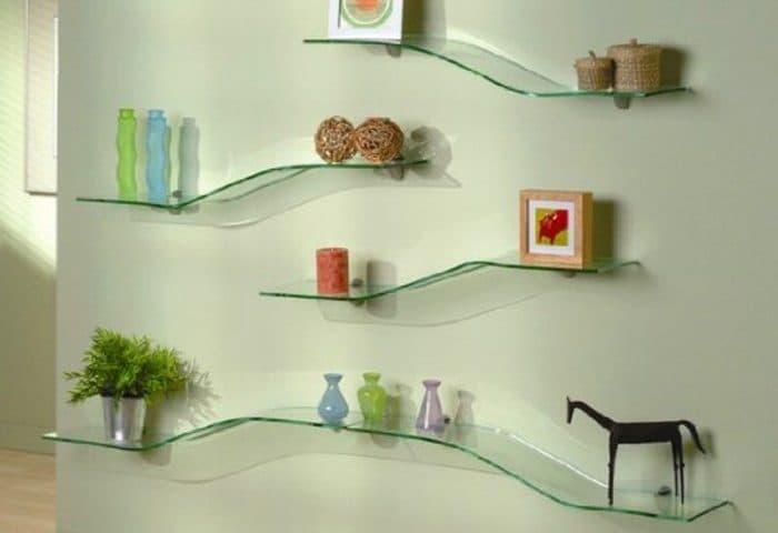 стеклянные полки для книг в минске