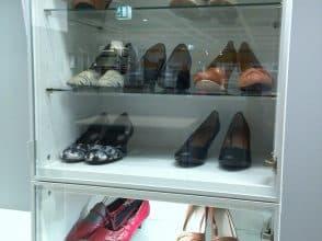 стеклянные шкафы для обуви