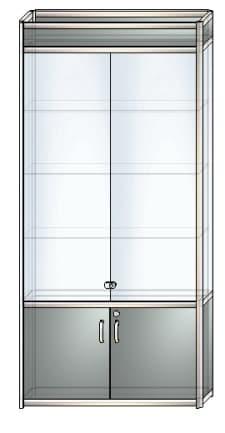 стеклянная витрина в6