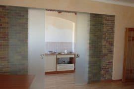 стеклянные двери на кухню