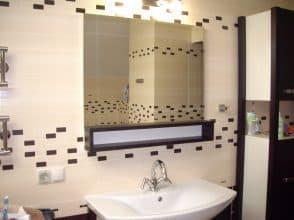 зеркало для ванной 800х1500 с фацетом 25 мм