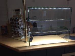 Витрина стеклянная 6 мм 400х500х300 для продуктов, УФ-склейка