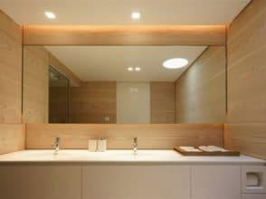 Зеркало для ванной комнаты 1000х1850 с полировкой