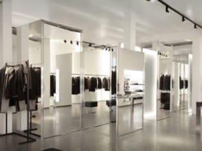 Зеркало для магазина 2700х700 с полировкой