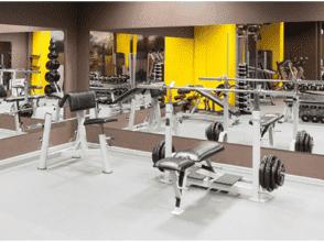 Зеркало для спортивного зала, общий размер 1780х4000 с полированной кромкой и противоосколочной пленкой
