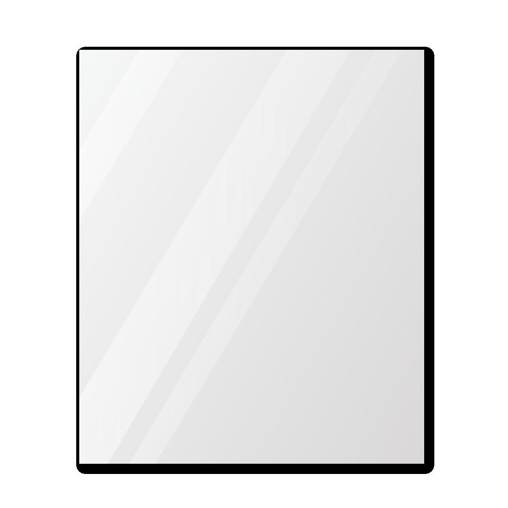 Зеркало в примерочную 1000×1200 с еврокромкой и креплением на клей