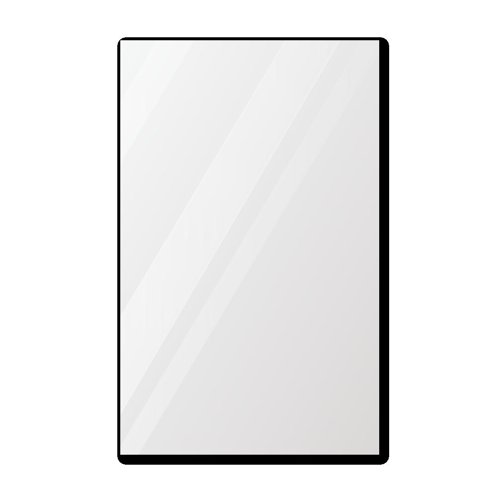 Зеркало в примерочную 1000×1600 с еврокромкой и креплением на клей