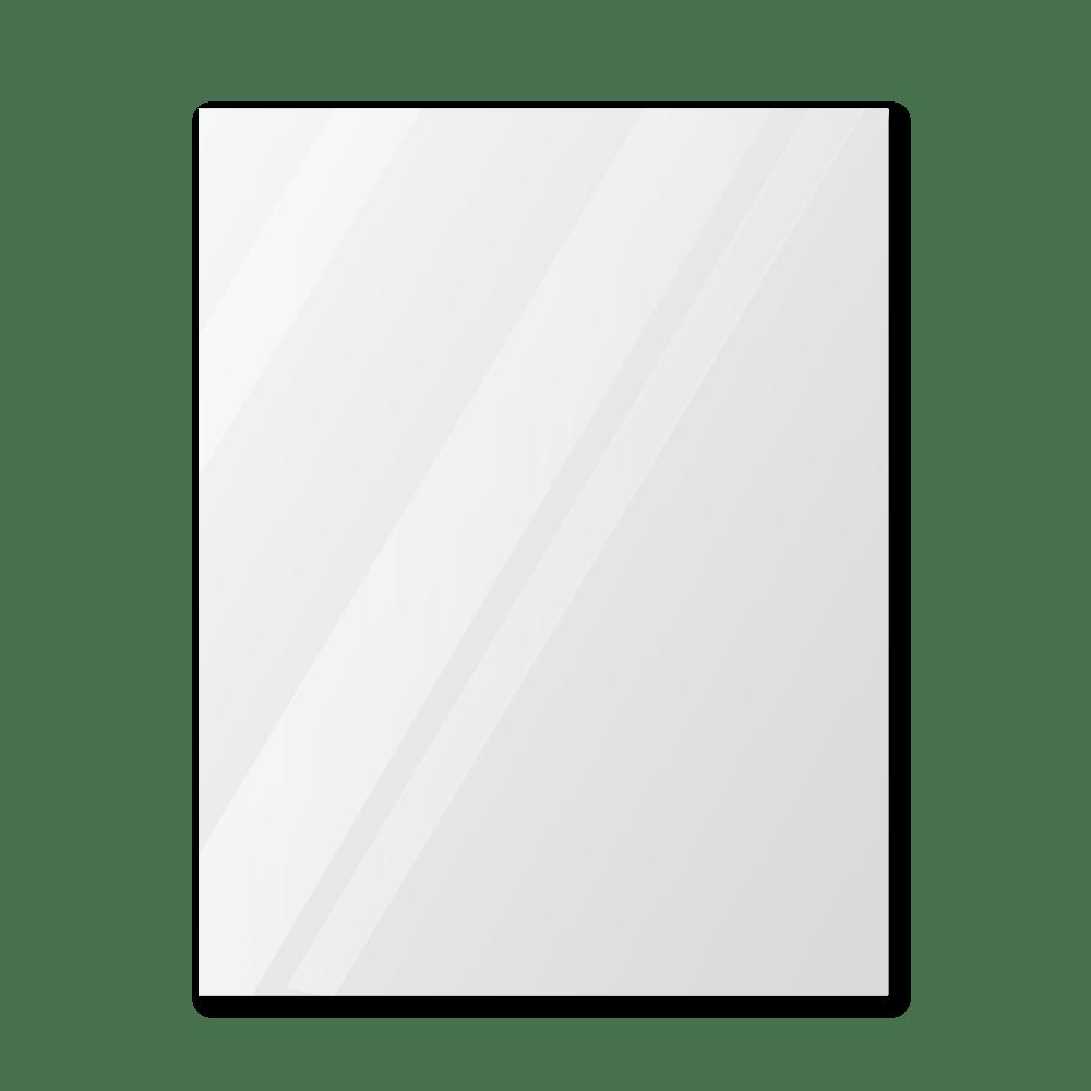 Зеркало в парикмахерскую 400×500 мм с фацетом 25 мм, отверстиями для крепления и противоосколочной пленкой