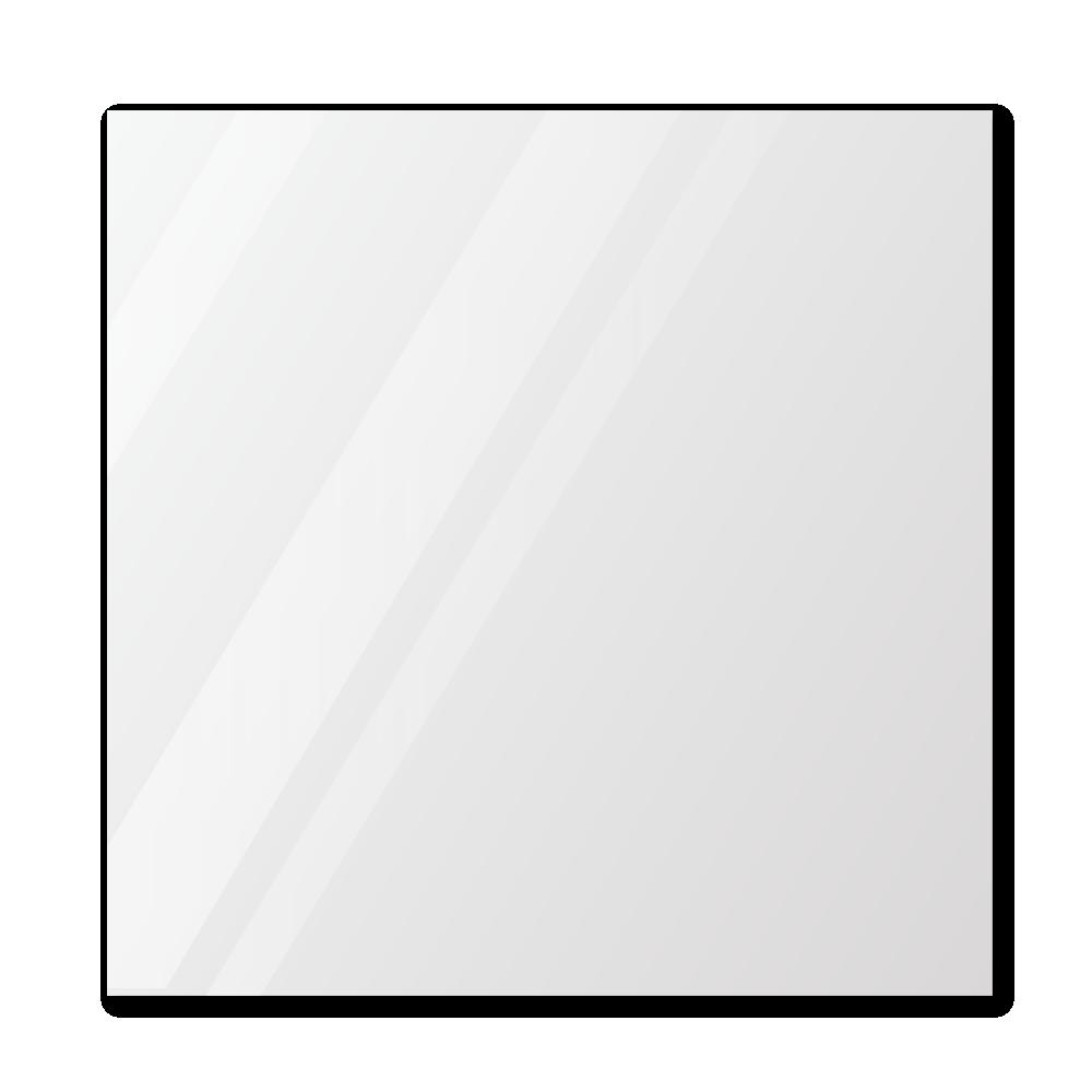 Зеркало в примерочную 1000×1000 с еврокромкой и креплением на клей