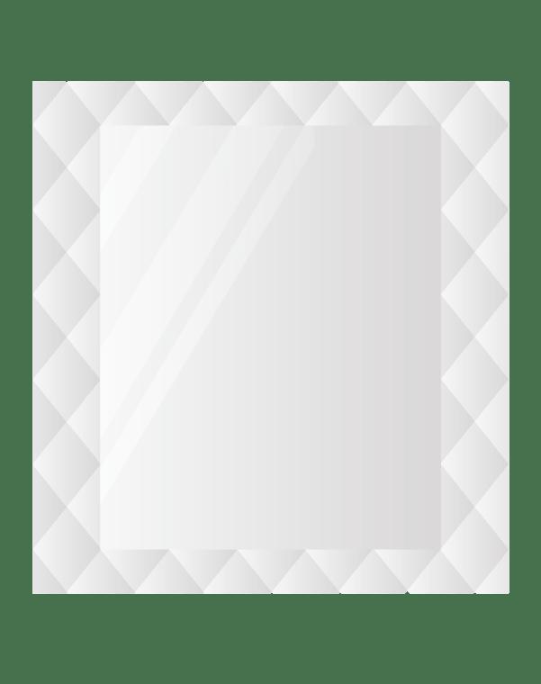 Зеркальное панно 2233×2387 мм с фацетом 15 мм, серебро