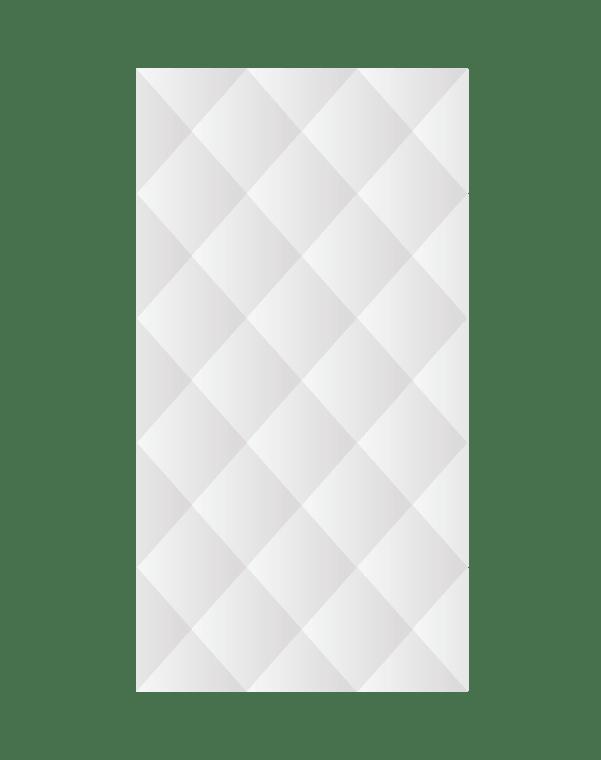 Зеркальное панно 1500×800 мм с фацетом 15 мм, серебро