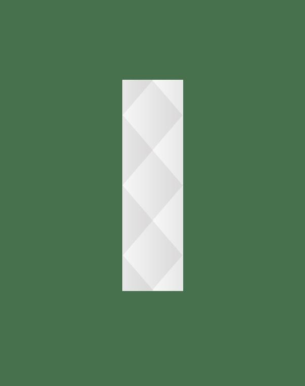 Зеркальное панно 1470×420 мм с фацетом 15 мм, серебро