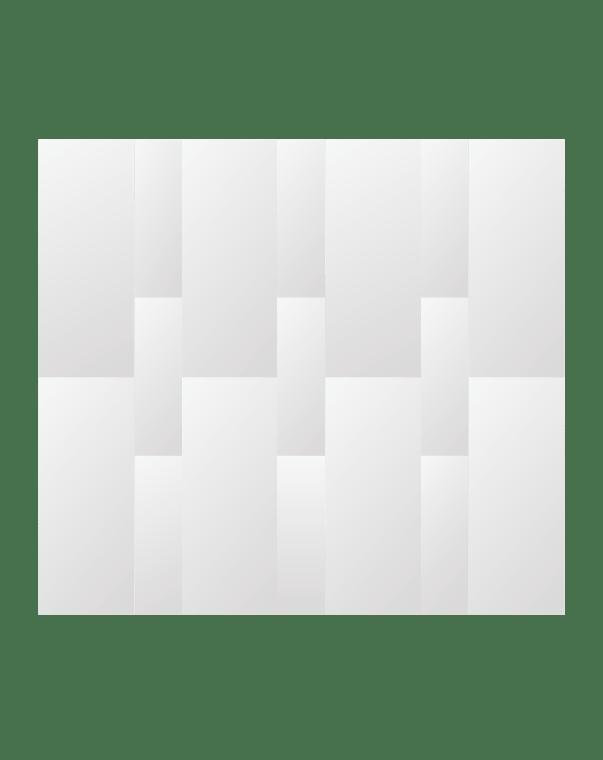 Зеркальное панно 2542×2292 мм с фацетом 15 мм, серебро