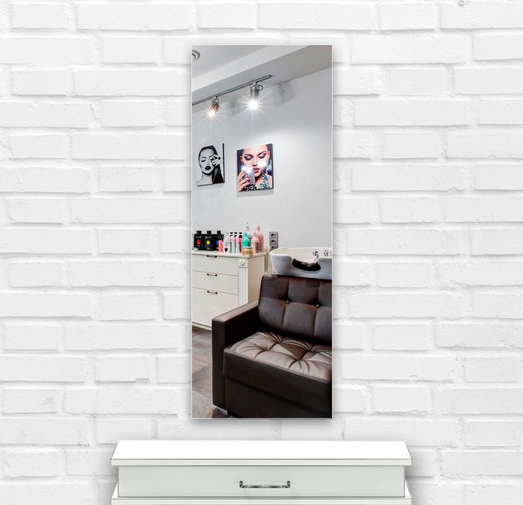 Зеркало в парикмахерскую 500×1400 мм с фацетом 20 мм и скрытым креплением