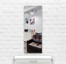 Зеркало в парикмахерскую 500×1400 мм с фацетом 25 мм и с отверстиями для крепления