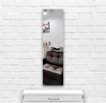 Зеркало в парикмахерскую 400×1600 мм с фацетом 15 мм, отверстиями для крепления и противоосколочной пленкой