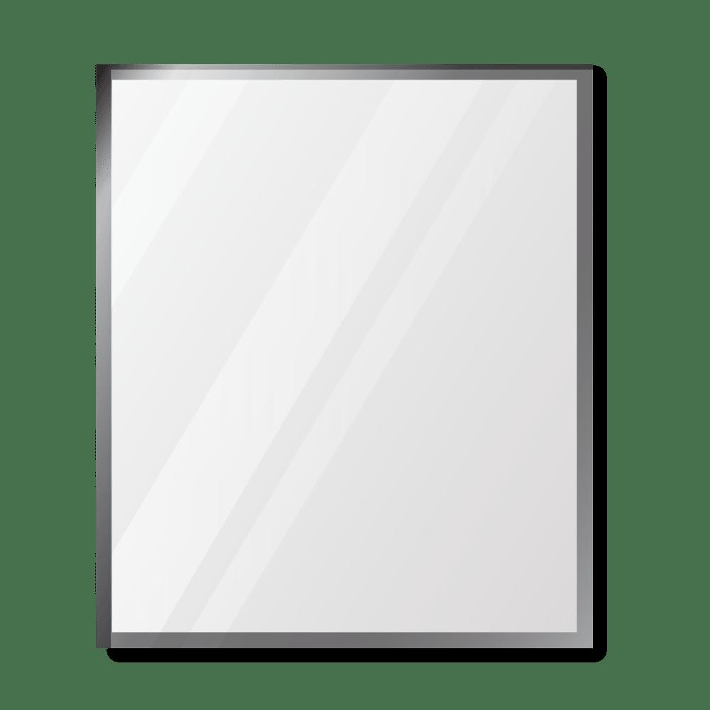 Зеркало 900×1000 мм с фацетом 5 мм в алюминиевой раме