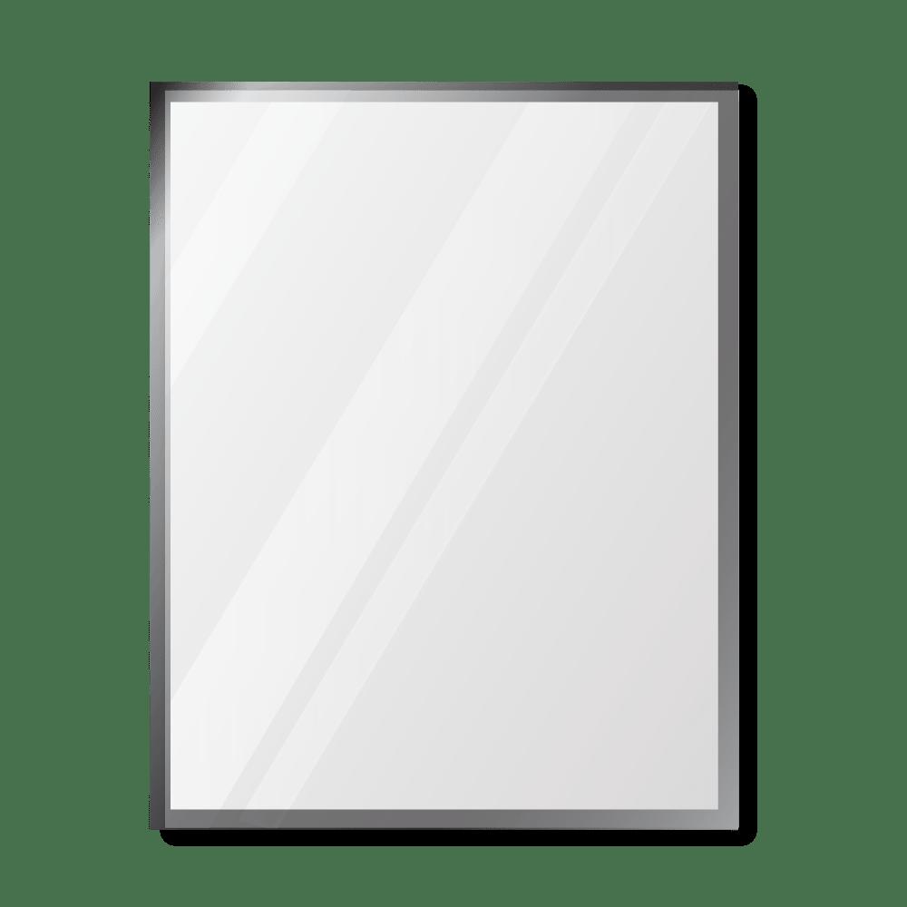 Зеркало 600×800 мм с фацетом 25 мм в алюминиевой раме
