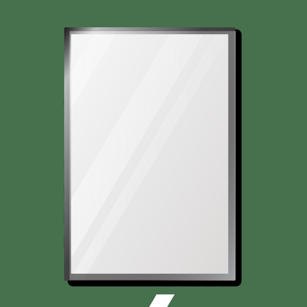 Зеркало 500×700 мм с фацетом 5 мм в алюминиевой раме