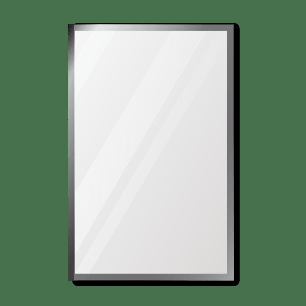 Зеркало 500×800 мм с фацетом 15 мм в алюминиевой раме