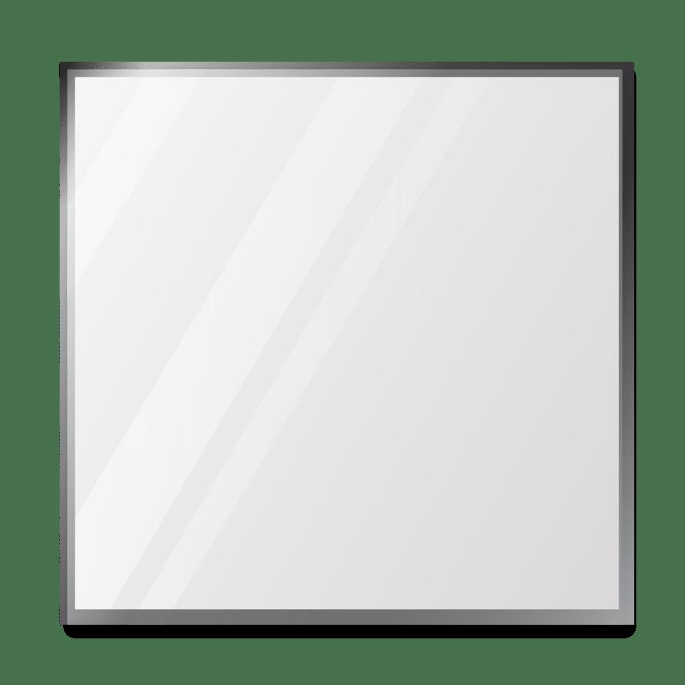 Зеркало 500×500 мм с фацетом 10 мм в алюминиевой раме