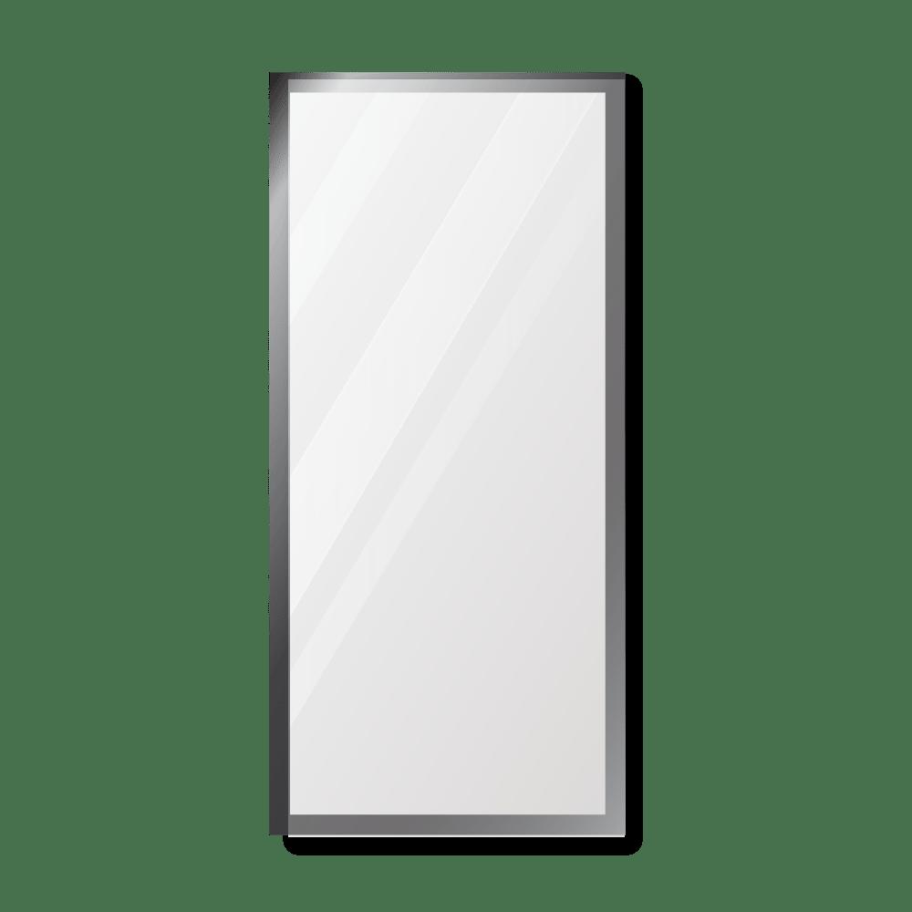 Зеркало 400×900 мм с фацетом 10 мм в алюминиевой раме
