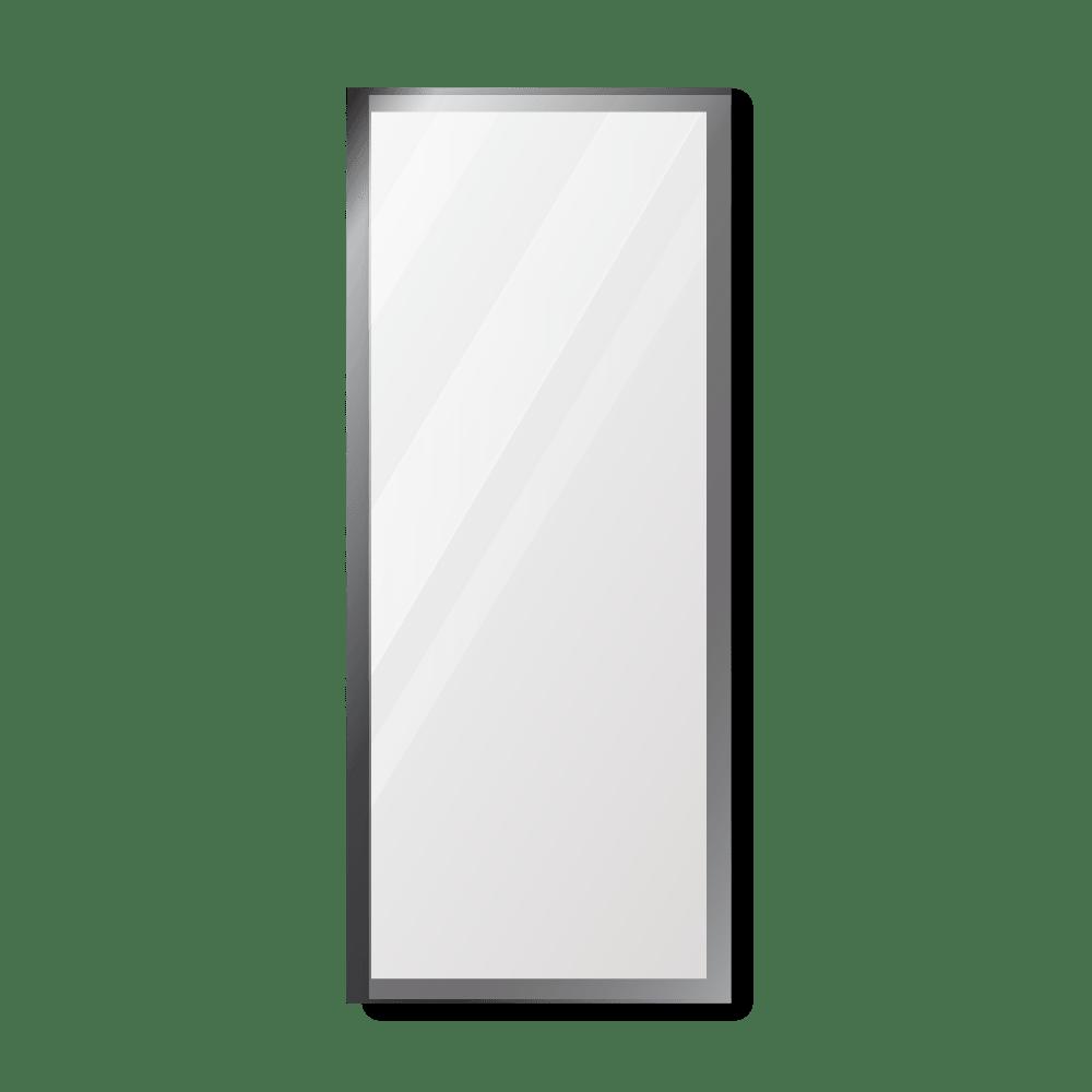 Зеркало 400×1000 мм с полированной кромкой в алюминиевой раме