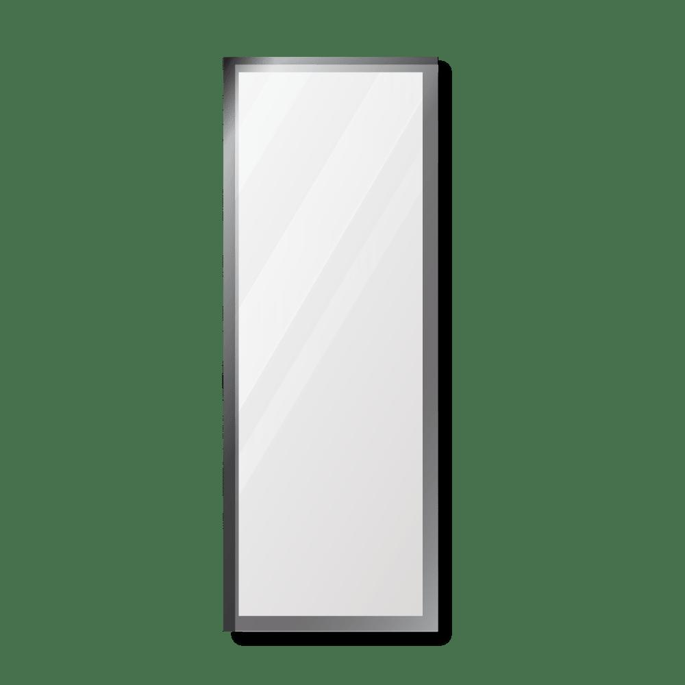 Зеркало 500×1400 мм с фацетом 10 мм в алюминиевой раме