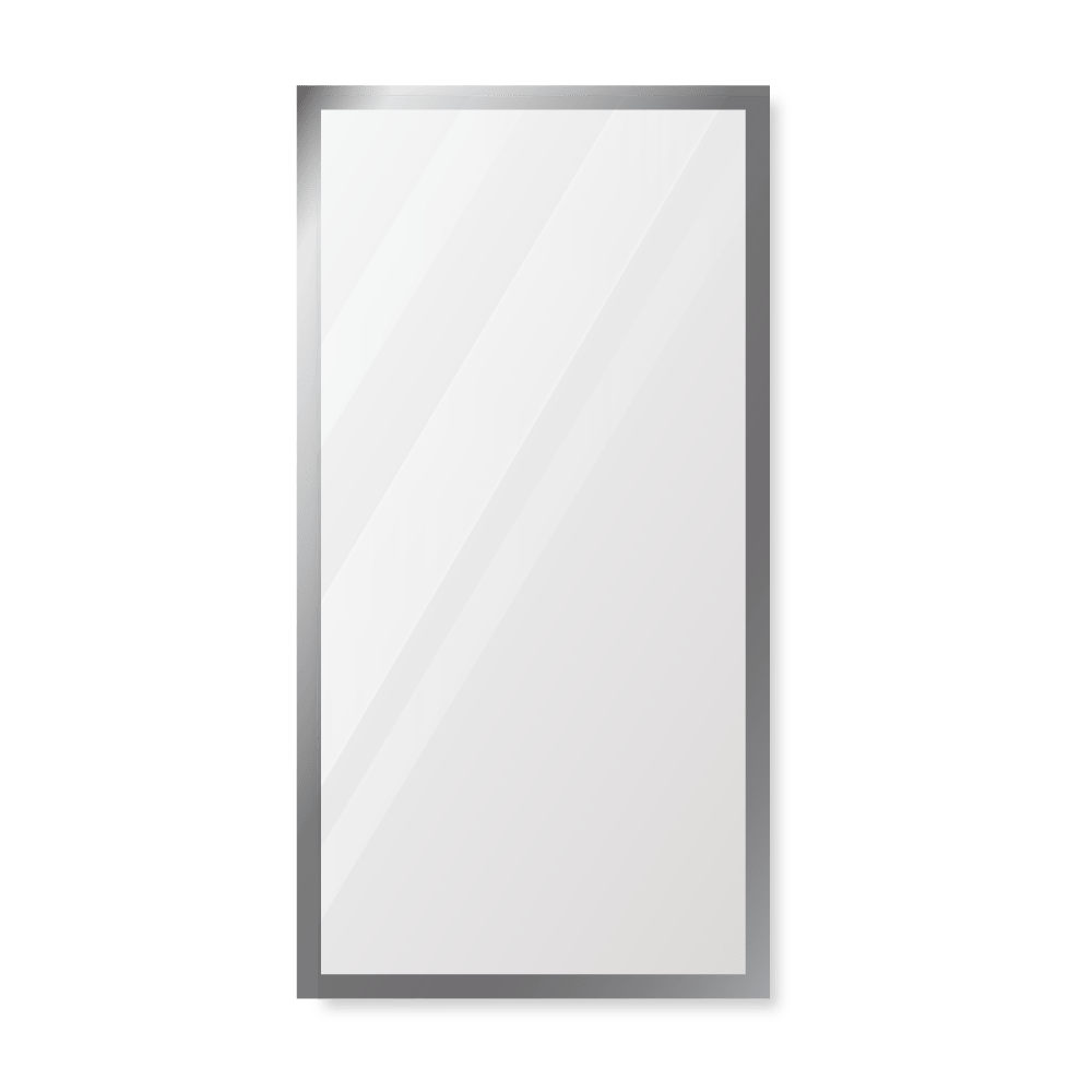 Зеркало 300×600 мм с фацетом 5 мм в алюминиевой раме