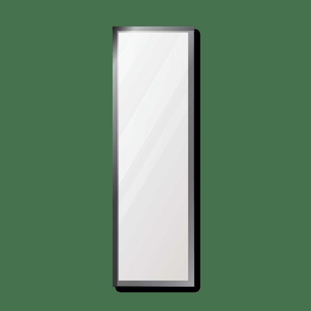 Зеркало 400×1400 мм с фацетом 5 мм в алюминиевой раме