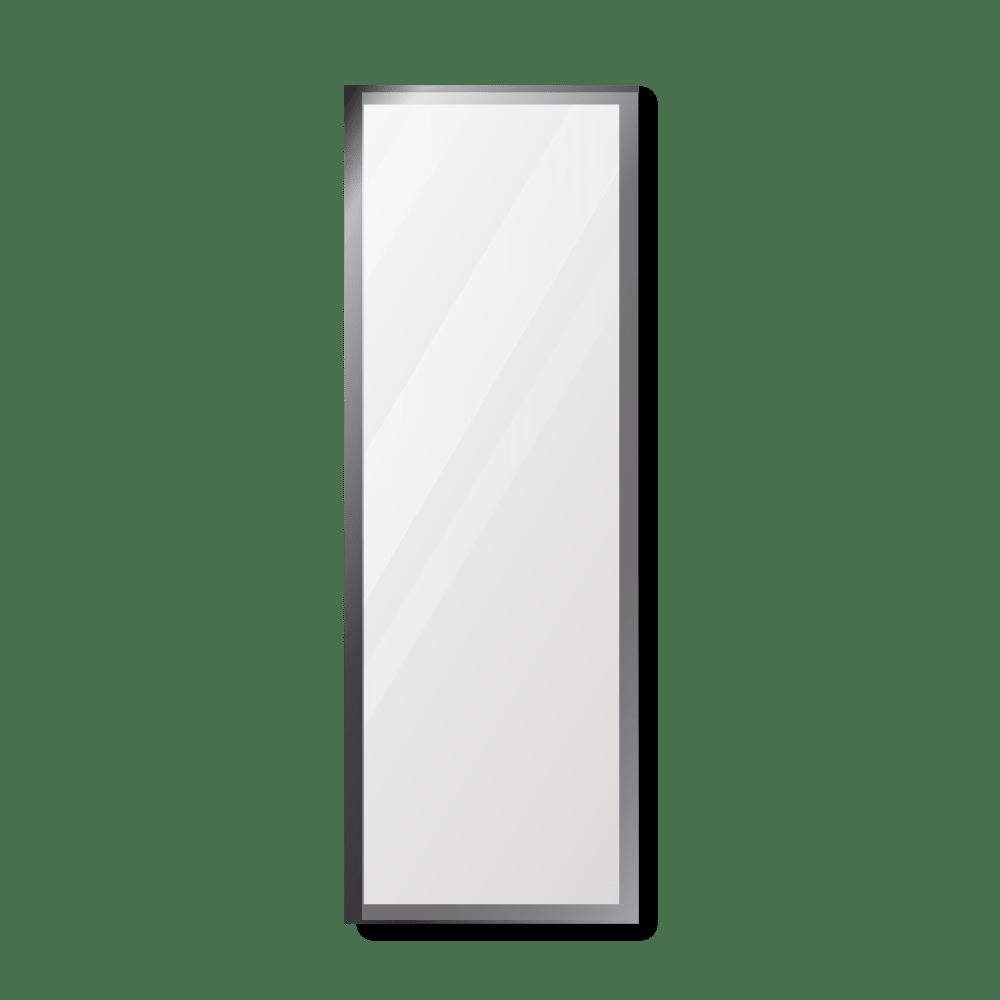 Зеркало 300×900 мм с полированной кромкой в алюминиевой раме