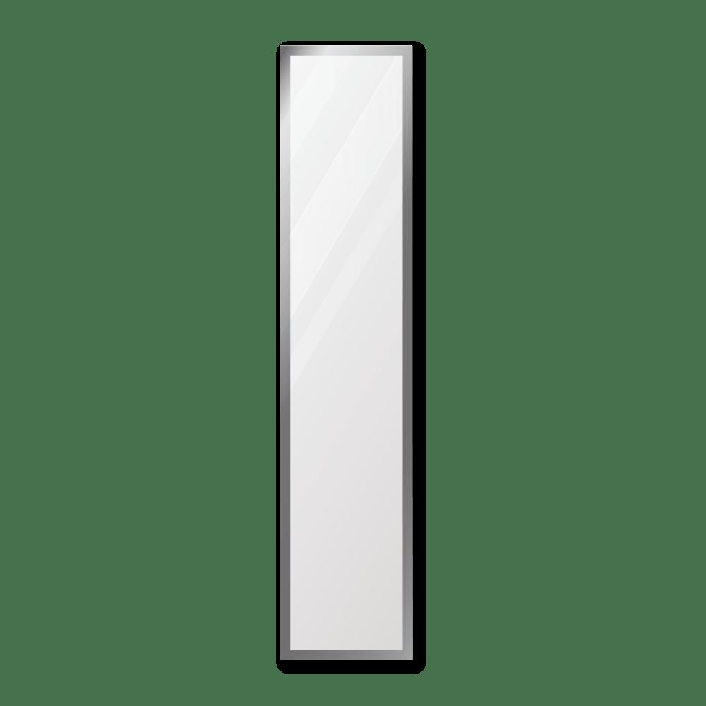 Зеркало 300×1400 мм с фацетом 15 мм в алюминиевой раме