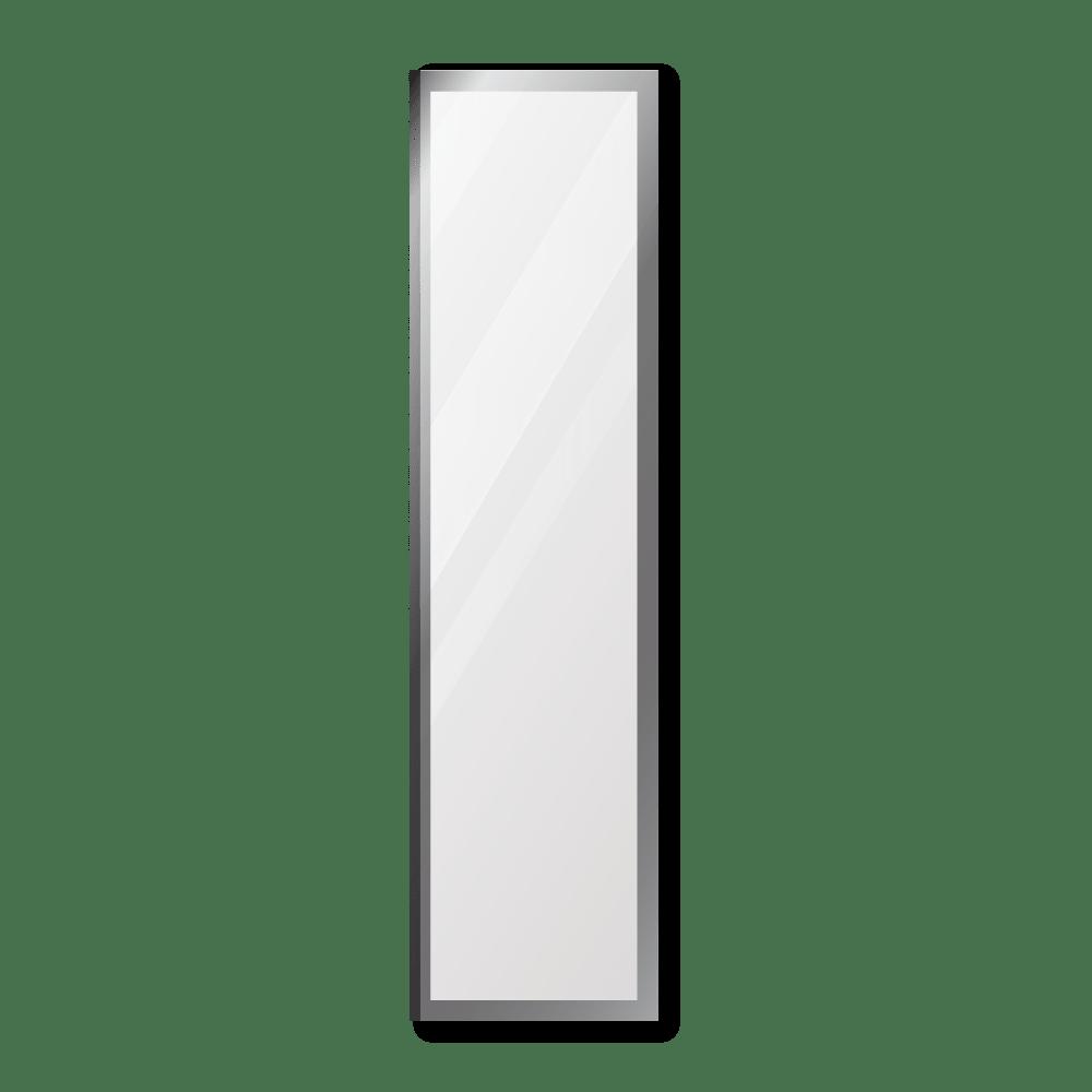 Зеркало 400×1600 мм с фацетом 10 мм в алюминиевой раме