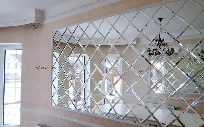 Зеркальное панно в декоре