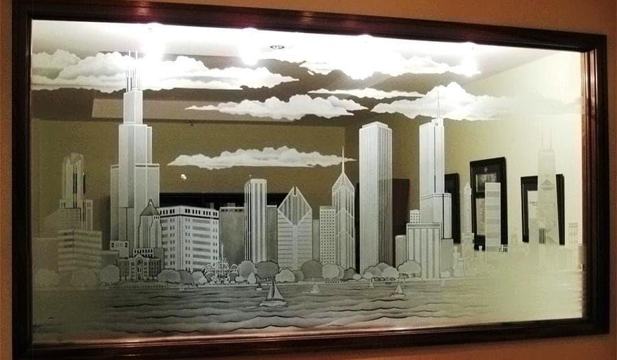 Уход за стеклом с пескоструйным рисунком