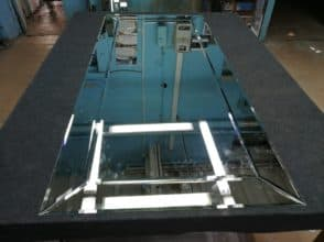 Зеркальное панно 700х1550 мм с фацетом 10 мм