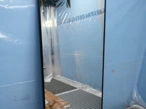 Зеркало осветленное 1700х800 в алюминиевой раме (цвет рамы: черный браш)