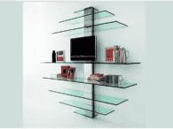 Как установить стеклянную полку