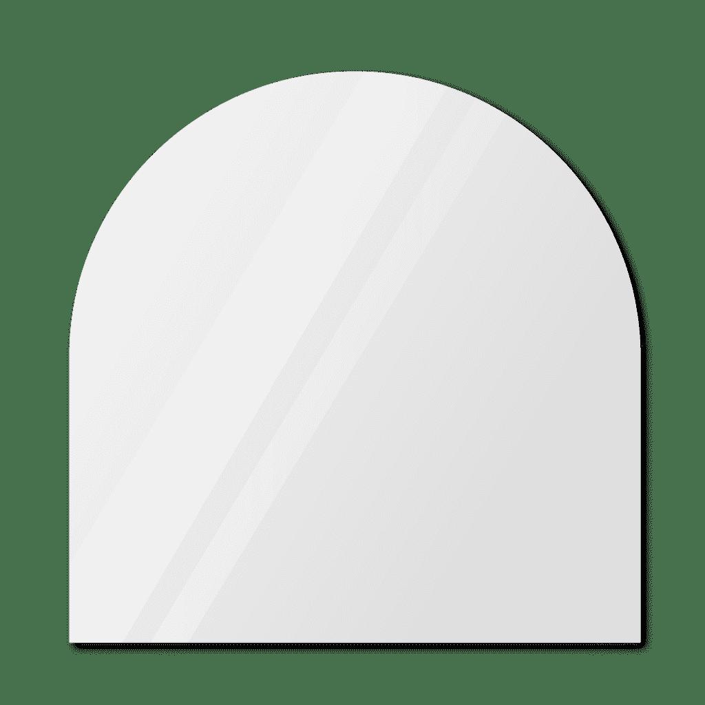Зеркало в форме арки 1200×1200 мм с фацетом 25 мм для монтажа на клей