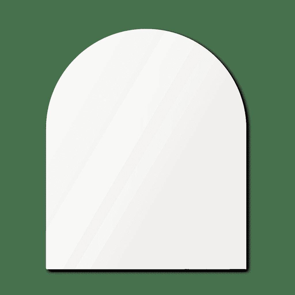 Зеркало в форме арки 1600×1000 мм осветленное с фацетом 20 мм для монтажа на клей