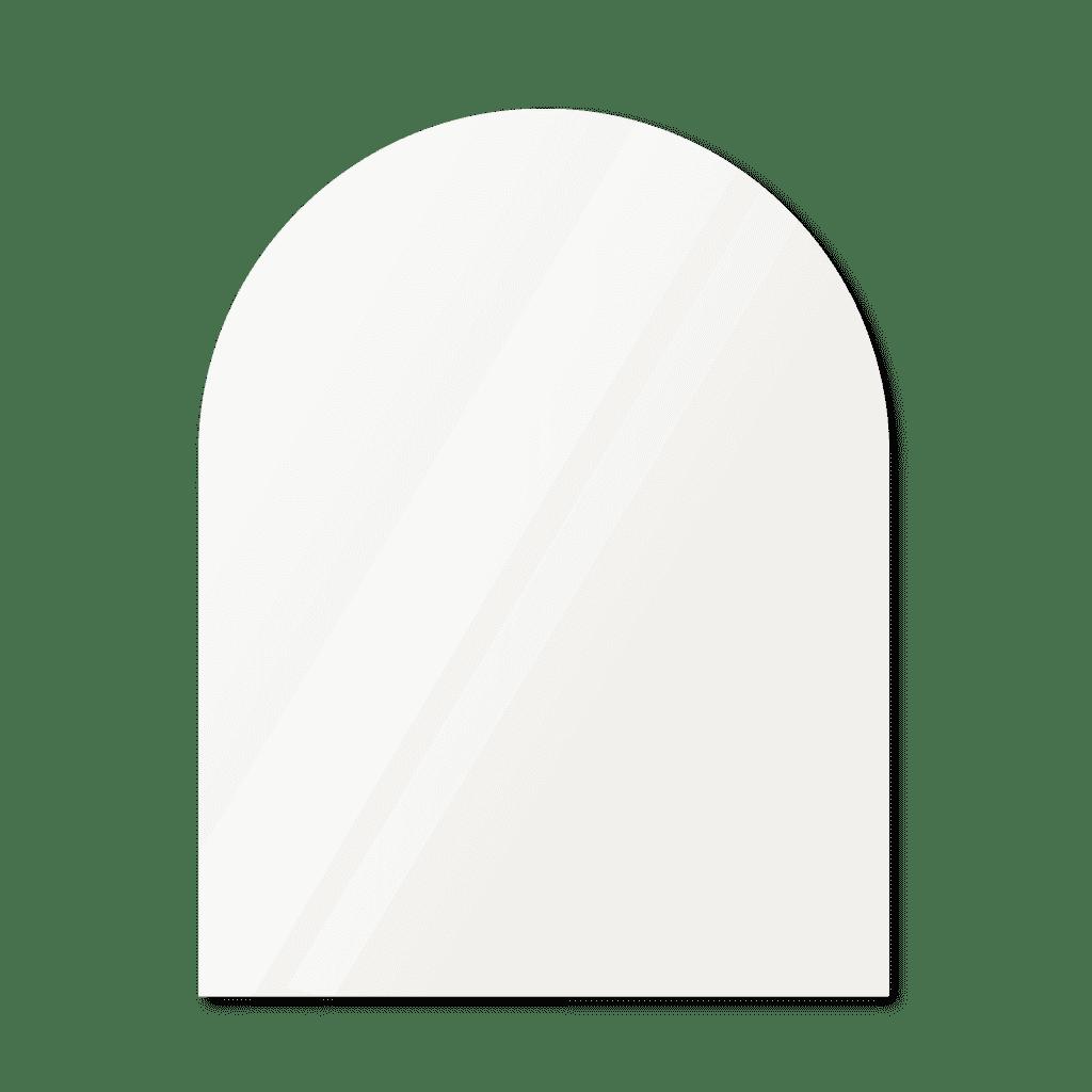 Зеркало в форме арки 1400×1200 мм осветленное с еврокромкой для монтажа на клей