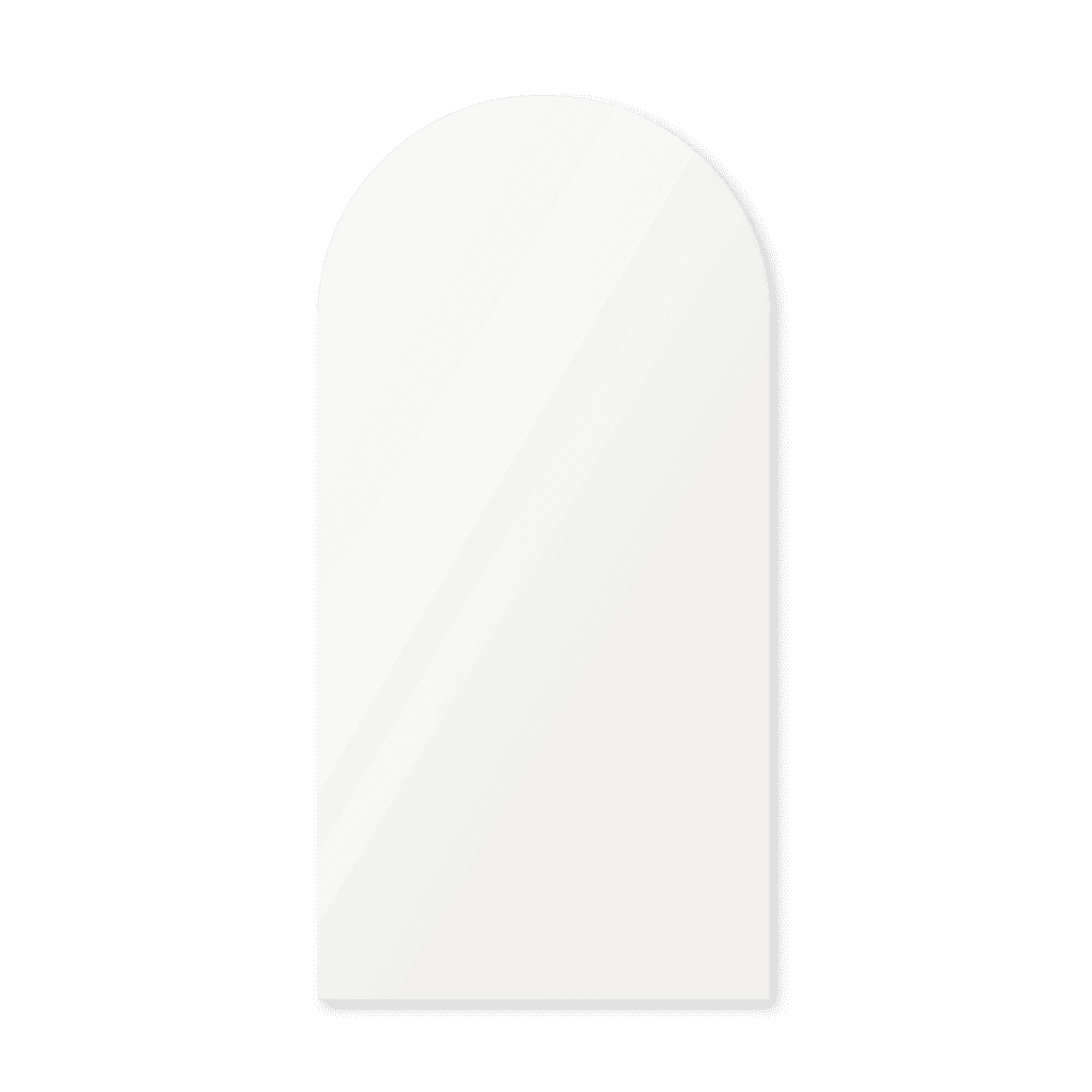 Зеркало в форме арки 1700×800 мм осветленное с фацетом 15 мм для монтажа на клей