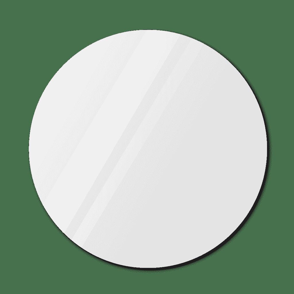 Круглое зеркало диаметром 1150 мм с еврокромкой для монтажа на клей
