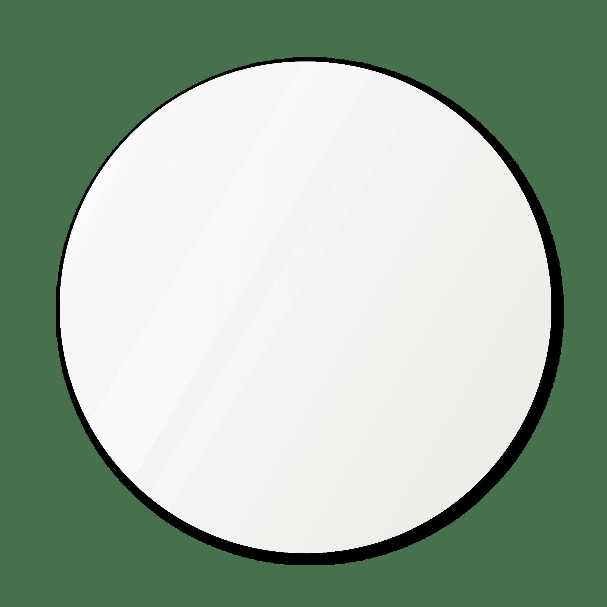 Круглое зеркало диаметром 1070 мм с фацетом 25 мм осветленные для монтажа на клей