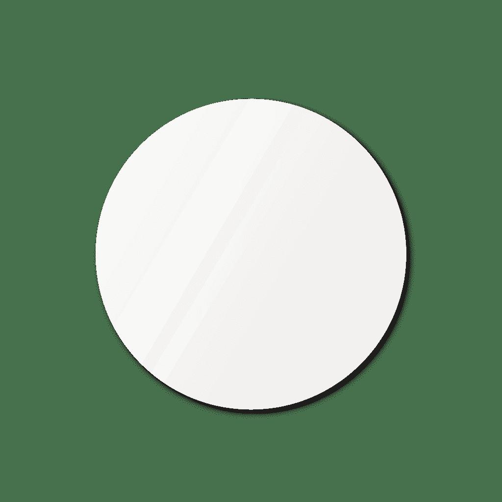 Круглое зеркало диаметром 630 мм осветленное с еврокромкой для монтажа на клей