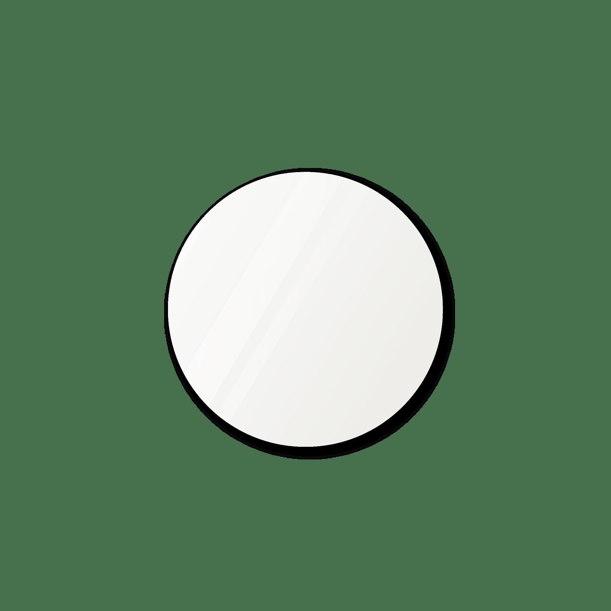 Круглое зеркало диаметром 430 мм с фацетом 25 мм осветленные для монтажа на клей