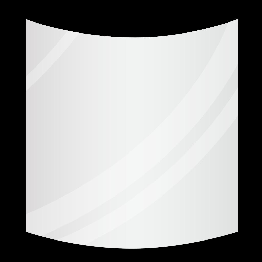 Зеркало с радиусными углами 700×600 мм с еврокромкой и креплением на клей
