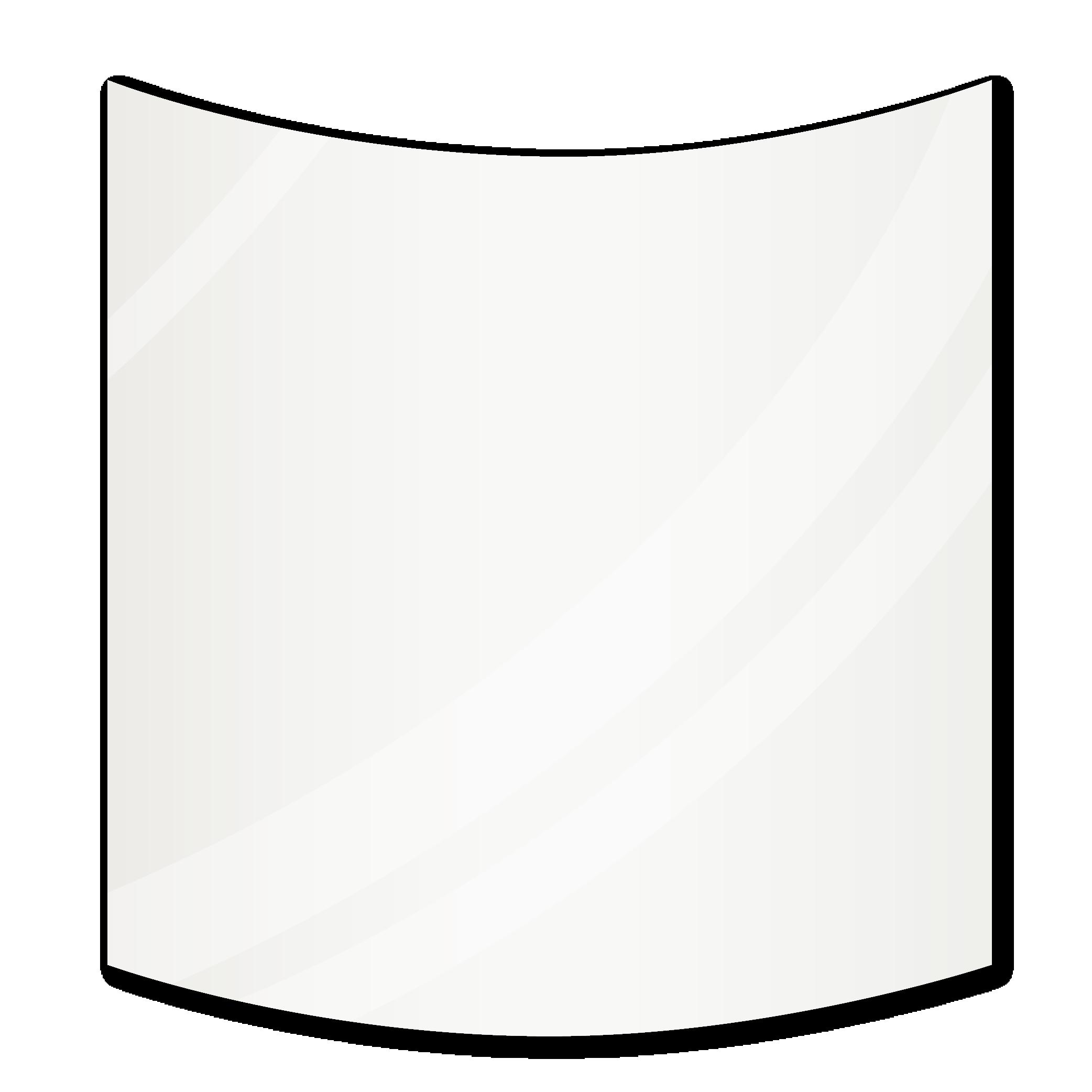 Зеркало с радиусными углами 1700×800 мм осветленное с еврокромкой и креплением на клей