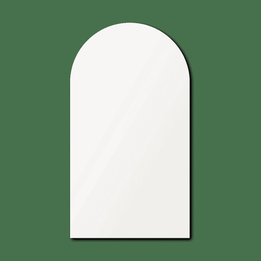 Зеркало в форме арки 500×900 мм осветленное с фацетом 25 мм для монтажа на клей