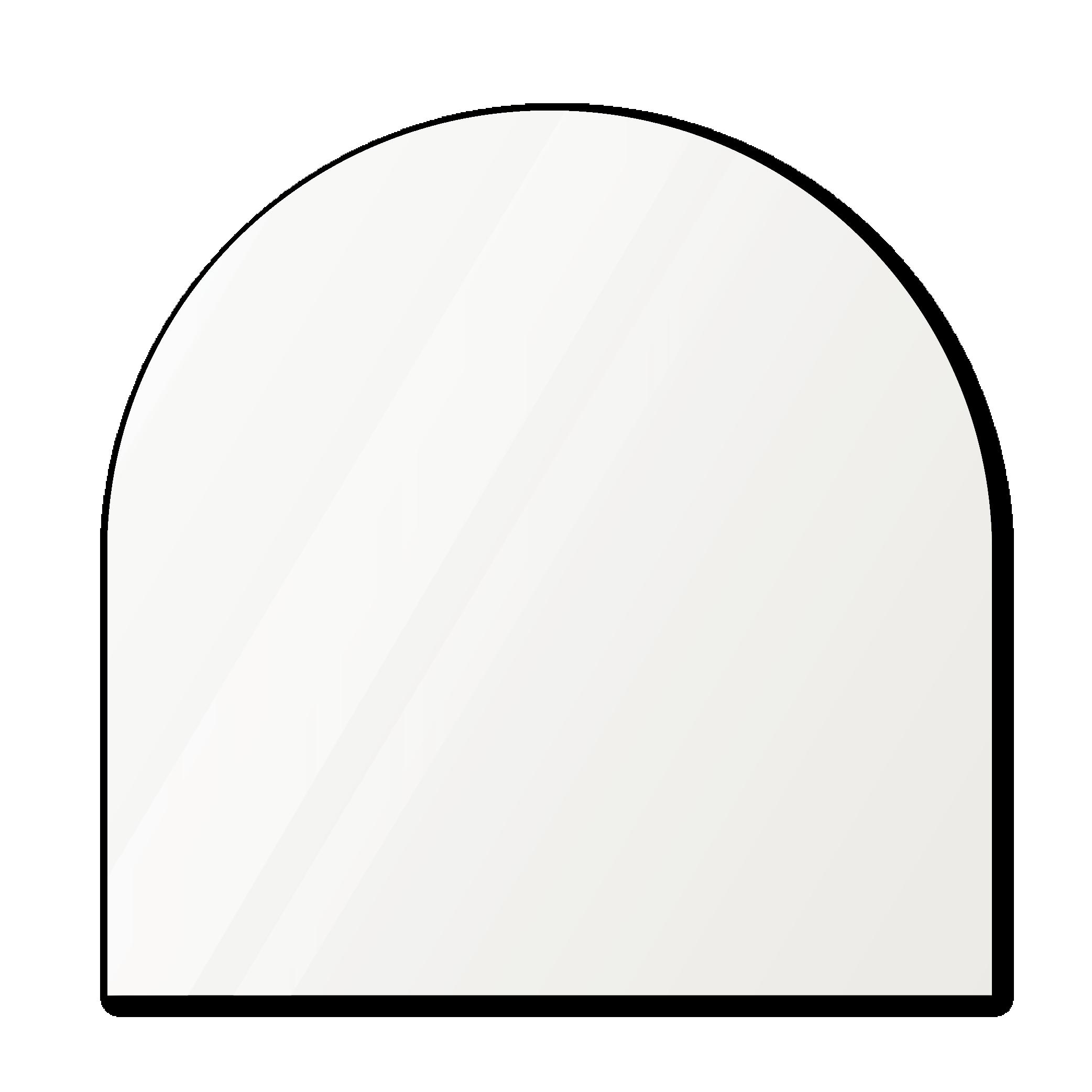 Зеркало в форме арки 1100×1100 мм осветленное с фацетом 25 мм для монтажа на клей